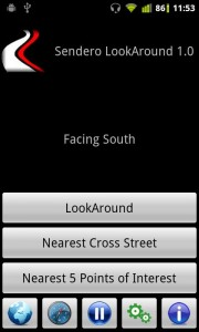 LookAround Android navigation app for blind people