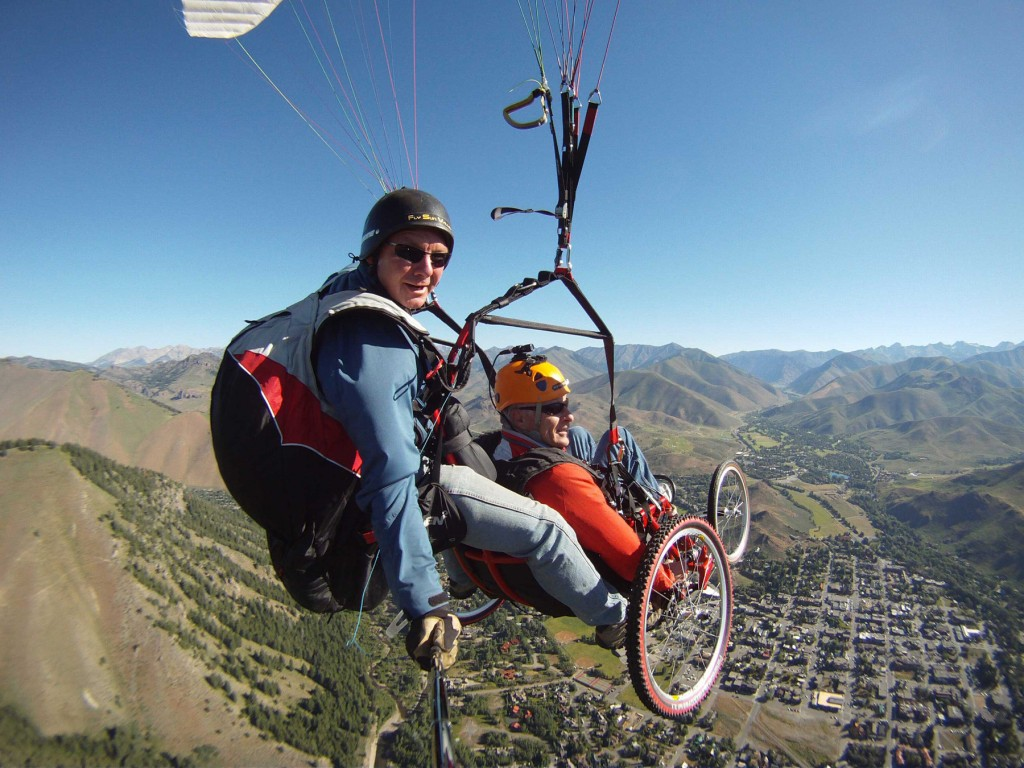 The Ergonomics and Safety Program in the Department of Mechanical Engineering at the University of Utah developed a paraglider than can be used by disabled person. (Credit: University of Utah)