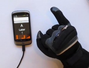 Glove works with an Android app to translate sign language into text on a smartphone.