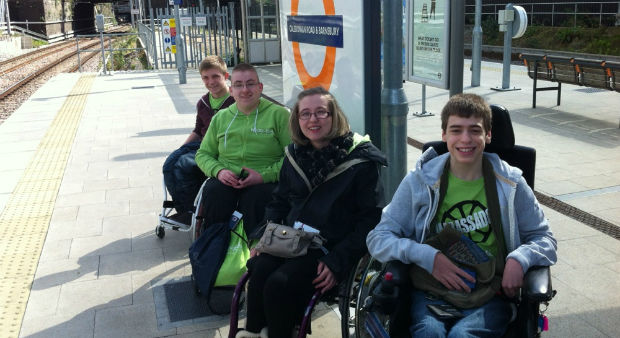 Young people with disabilities from Whizz-Kidz set out to test London's Transport accessibility (Photo credit: Channel 4)