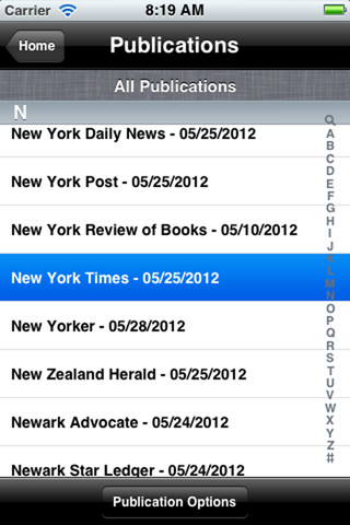 NFB-NEWSLINE(R) App iPhone Screenshot
