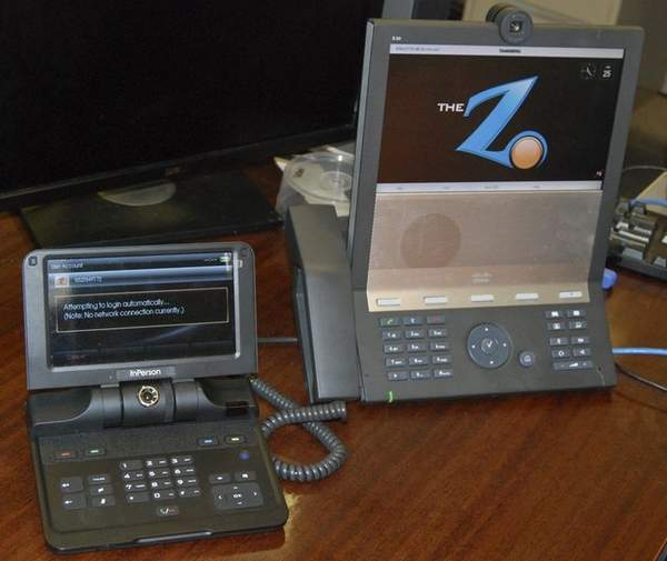 Z-340, left, and Z-20 videophone systems are seen at the Agency for Human Resources Development on June 25. (Photo credit: Guampdn.com)