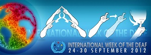 WFD international week of the deaf logo
