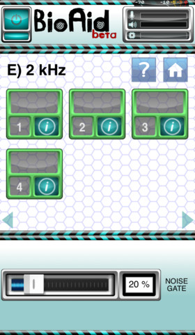 BioAid iPhone app Screenshot