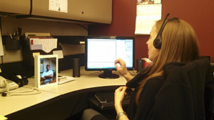 University of Cincinnati research examines how technology can break down barriers for students who are deaf and hard-of-hearing. (Photo credit: University of Cincinnati)