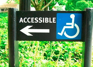 Accessible Area Sign Board