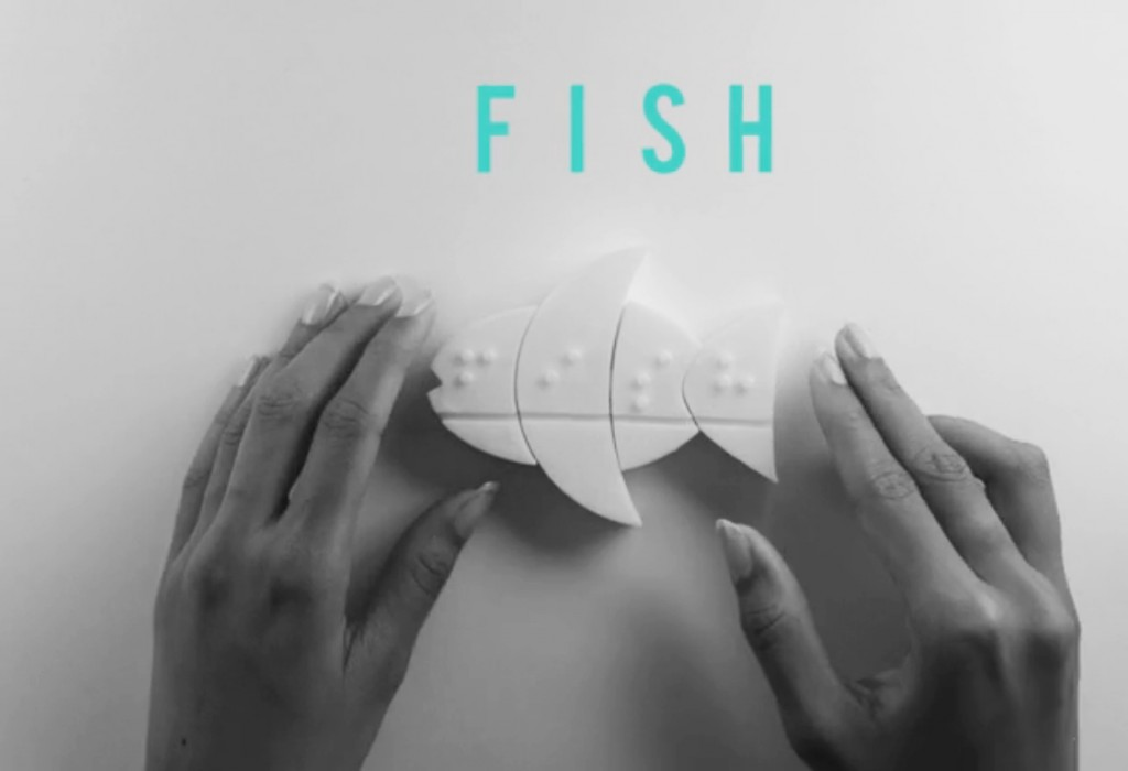 FITTLE puzzle for the word fish.