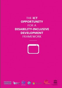 The ICT Opportunity for a Disability-Inclusive Development Framework cover.