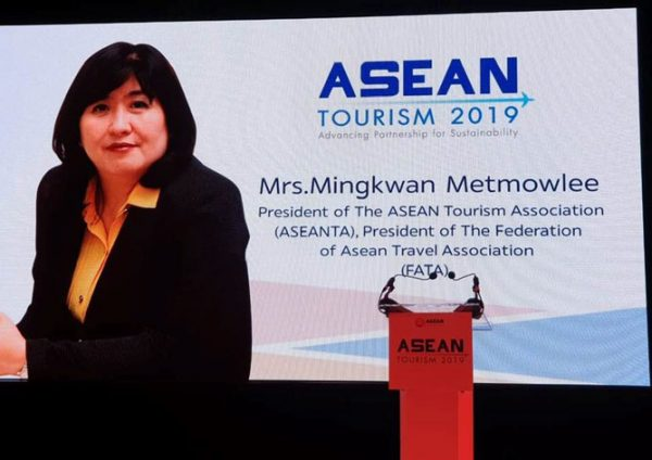 ASEAN Tourism Association president, Mingkwan Metmowlee, in an interview with Thailand Today