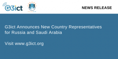NEWS RELEASE G3ict Announces New Country Representatives for Russia and Saudi Arabia