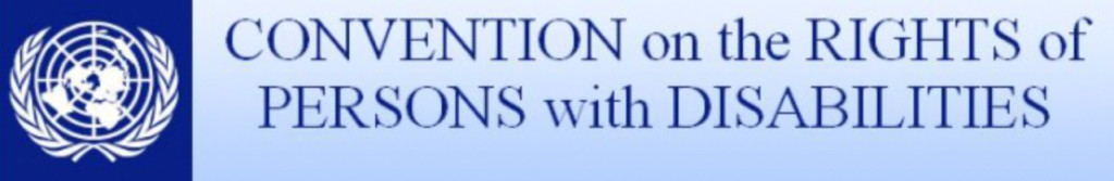 UN logo adjacent to text Convention on the Rights of Persons with Disabilities