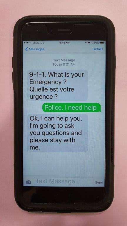 texting screen