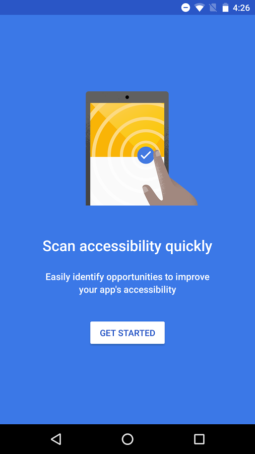Accessibility Scanner App Screenshot