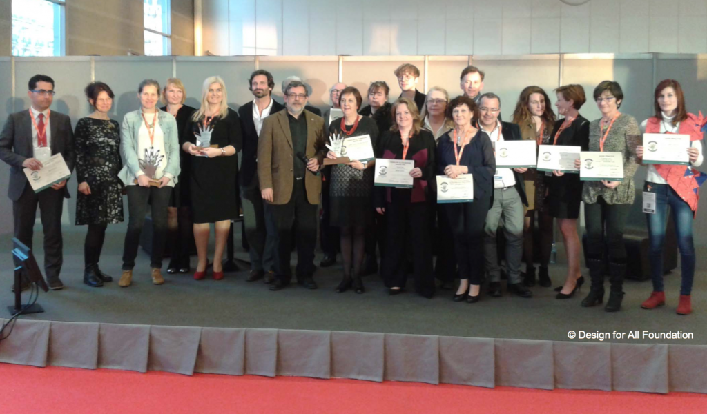 award ceremony group photo