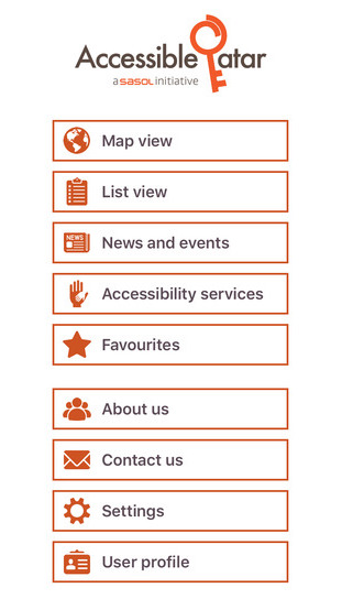 Accessible Qatar app Screenshot