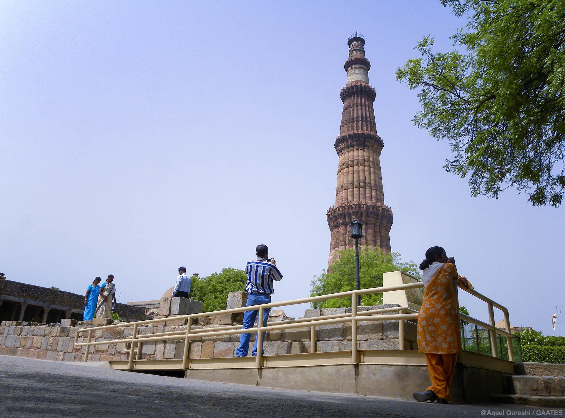 Ramp at Qutub Minar