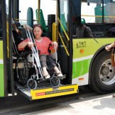 Accessible bus for person