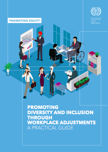Cover page of Promoting diversity and inclusion through workplace adjustments: A practical guide