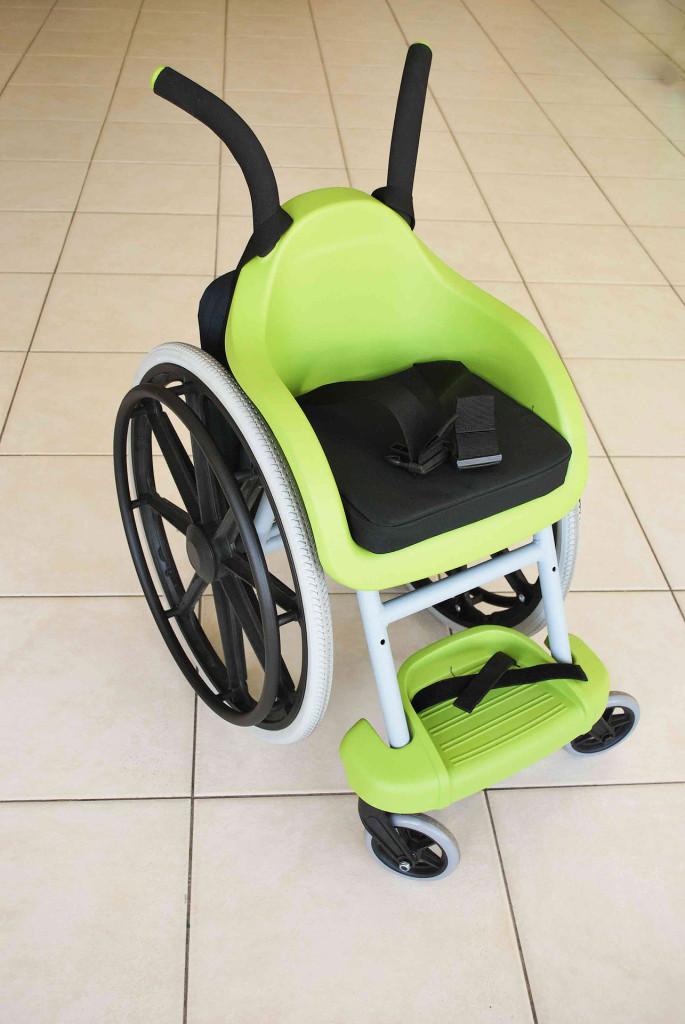 Innovative children's wheelchair.