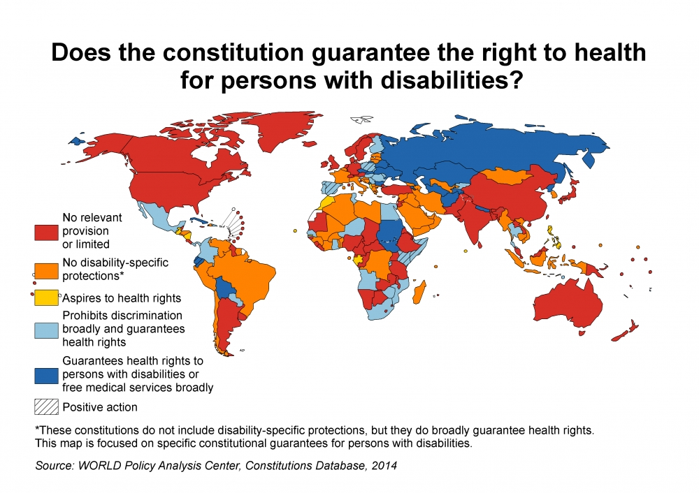 WORLD CRPD disability health map