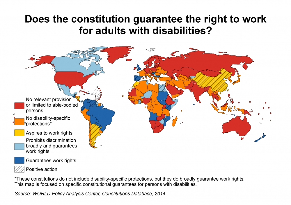 WORLD CRPD disability work map