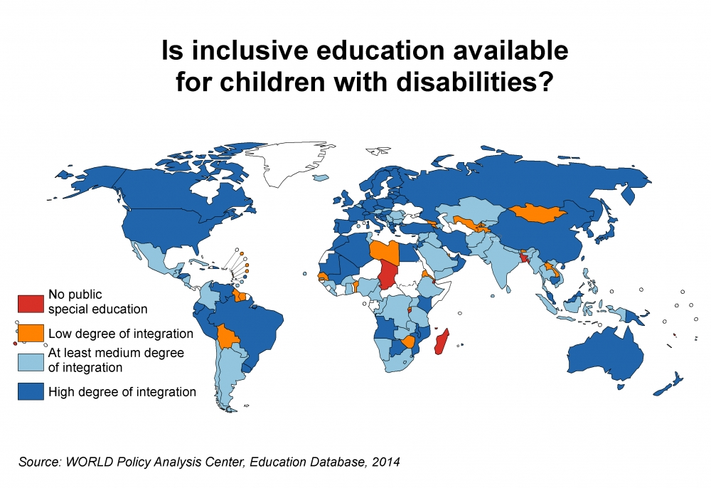 world crpd inclusive education Map