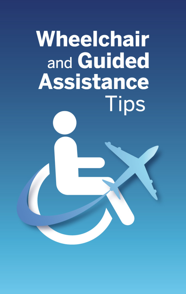 Wheelchair and Guided Assistance Tips Brochure Cover