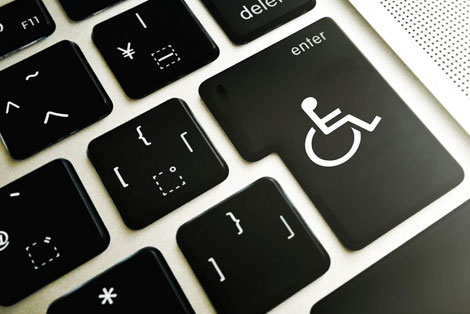 Accessibility icon in place of keyboard key