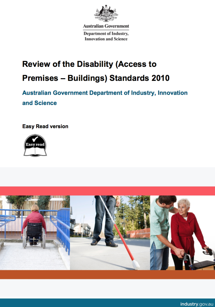 The Disability (Access to Premises – Buildings) Standards 2010 Review Report coverpage