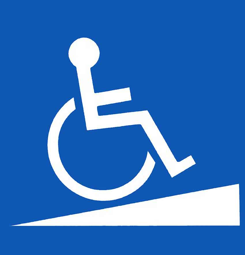 Wheelchair ramp symbol