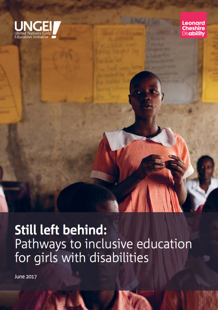 coverpage Still Left Behind: Pathways to Inclusive Education for Girls with Disabilities
