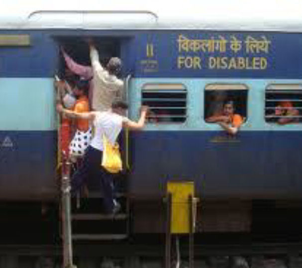 Railway coach for persons with disabilities