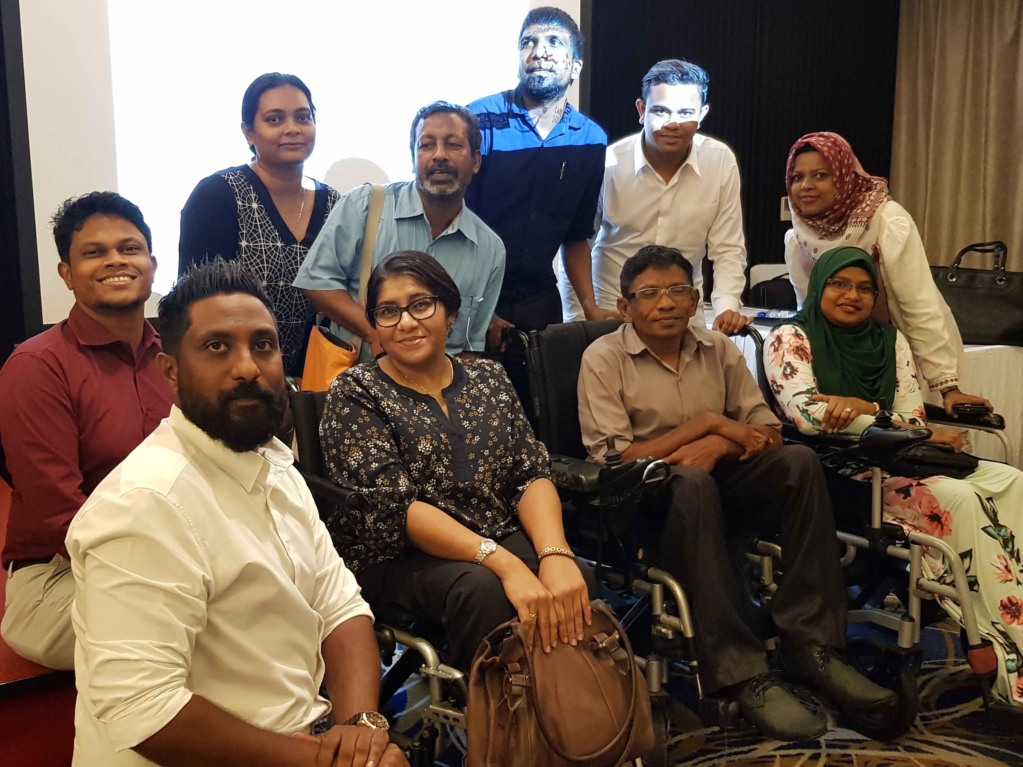 Participants at the forum for 'Promoting Disability Inclusive Development'