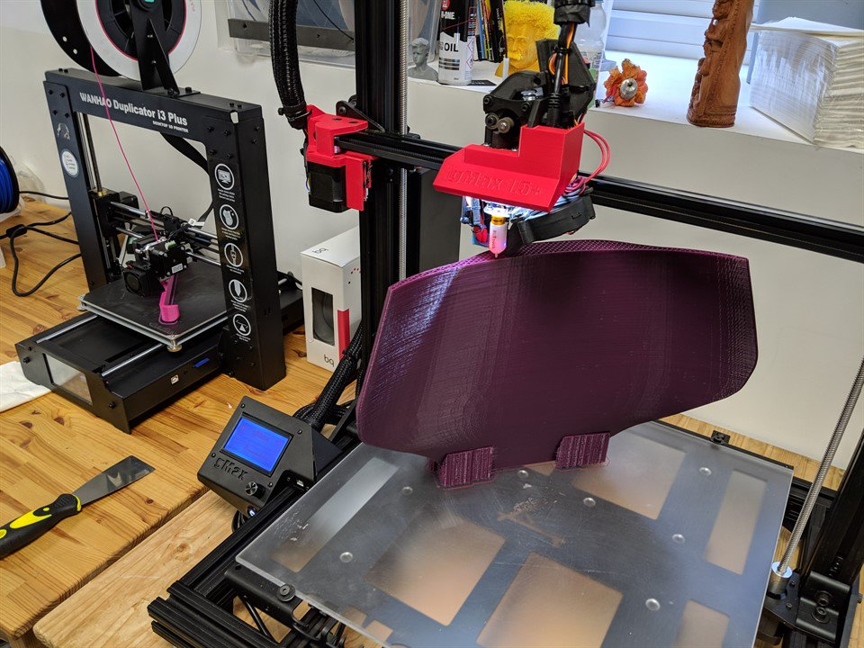 A wheelchair component in the process of being 3D printed (via Motivation)