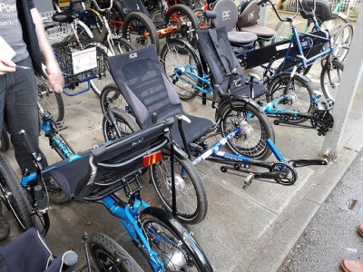 Some of the bikes used in the Pedal Power scheme