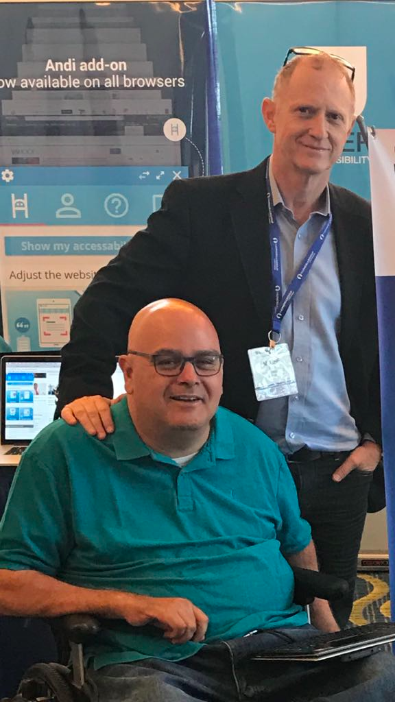 Left: Yuval Wagner, Founder & President of Access Israel Right: Moshe Gaon, Founder & CEO of Yoocan Technologies Moshe & Yuval at the M-Enabling Summit 2017 in Washington.