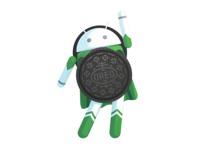 sculpture of the Android 8.0 Oreo operating system
