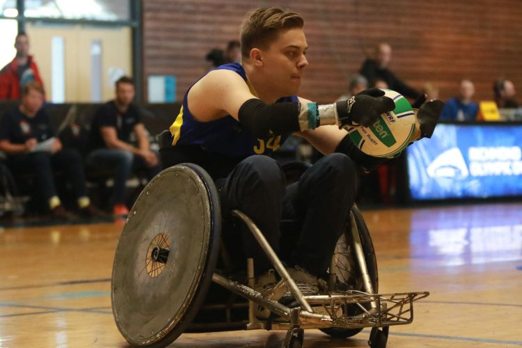 Wheelchair rugby. Photo via Lakeshore Foundation