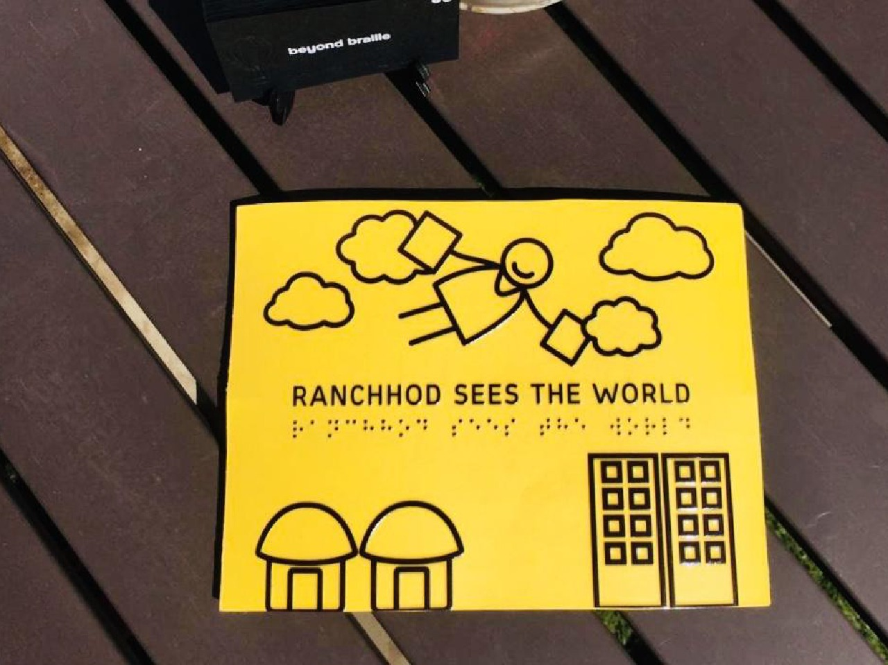 Ranchhod Sees the World is the first ever inspirational illustration picture book for the visually impaired community.  Photo credit: beyondbraille.com