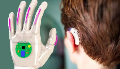 Image of a glove that A glove able to translate sign language to speech in real-time has been designed (Image: Getty/UCLA)