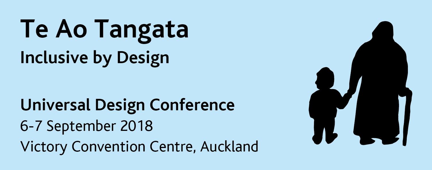 Te Ao Tangata Universal Design Conference 2018 Logo
