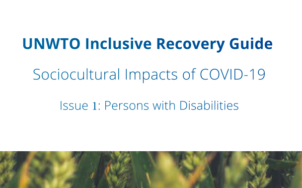 Cover page of the UNWTO Inclusive Recovery Guide