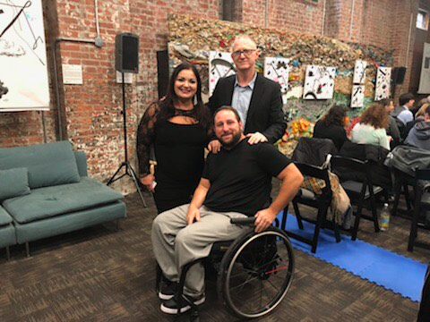 Yoocan CEO at ReelAbilities Film Festival New York. Left: Maria Bournias, Middle: Moshe Gaon, Right: Peter Gagliardo