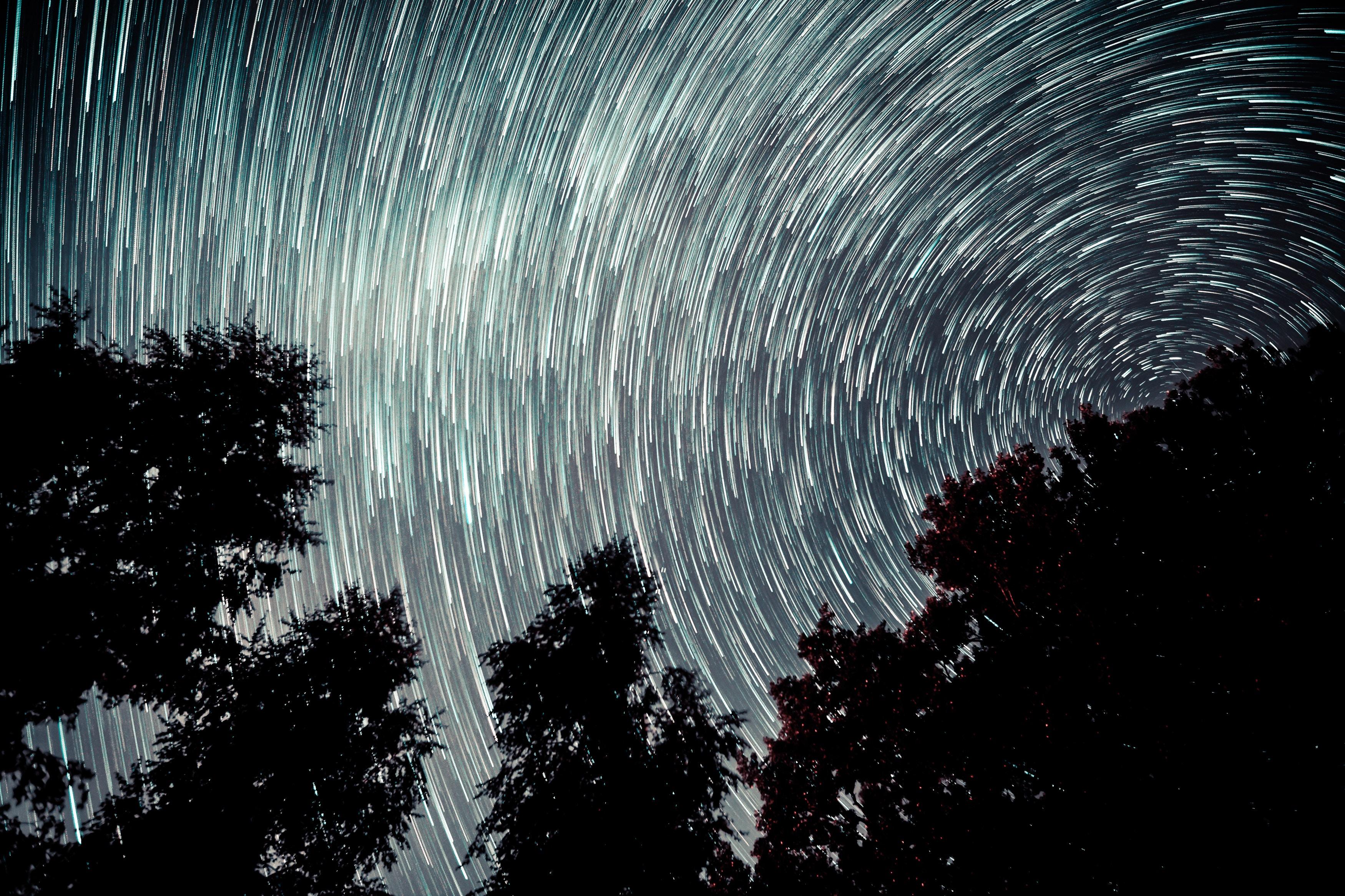 timelapse photography of starry sky