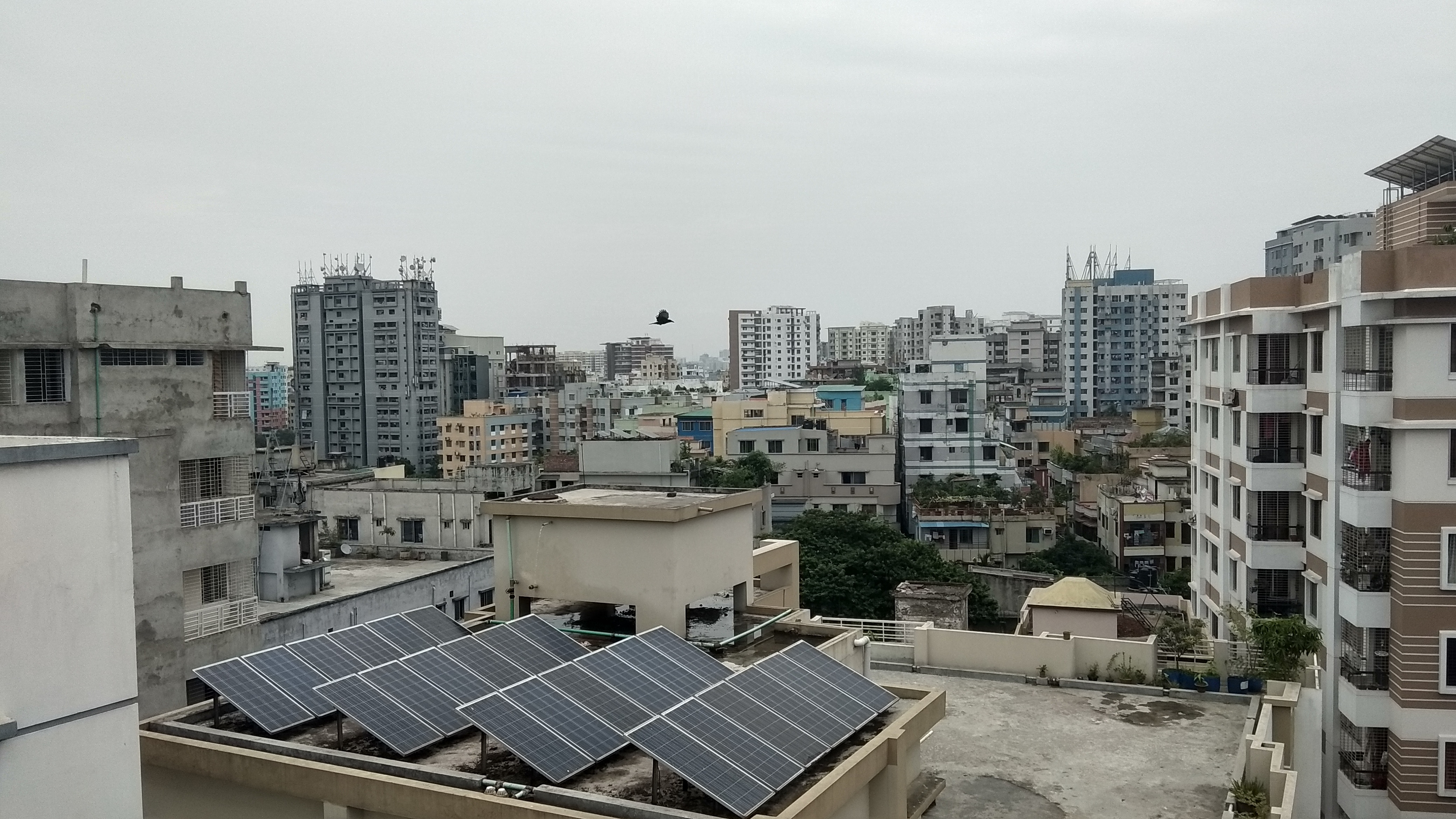 rooftop view of Dhaka, Bangladesh