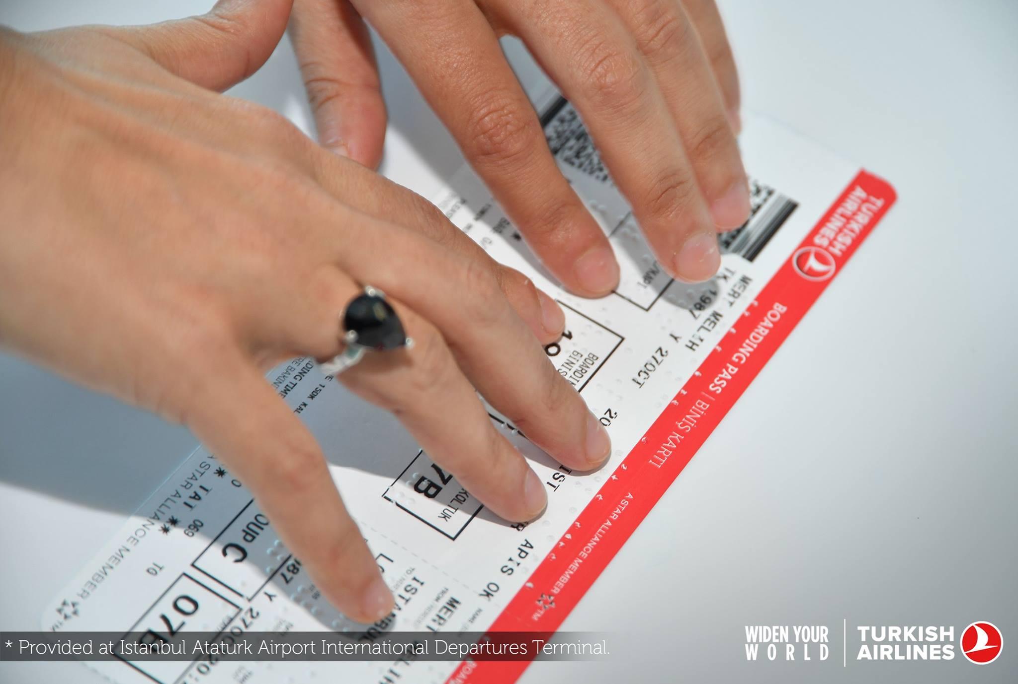 Boarding Pass in Braille