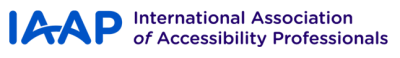 The International Association of Accessibility Professionals (IAAP)  Logo